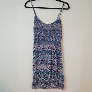 EUC Divided Shirred Summer Dress